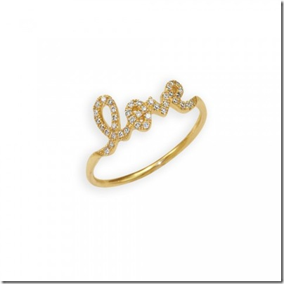 sydney evan Gold & Pavé Diamond Love Ring