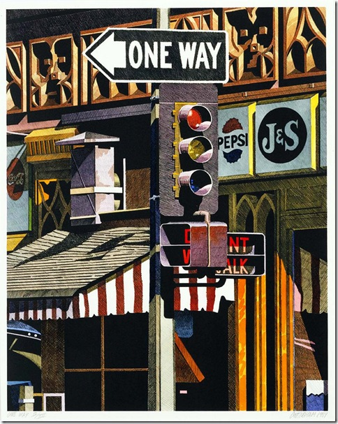 robert_cottingham_One Way_1984