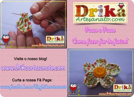 9 Passo a Passo como fazer fuxico Drika Artesanato post
