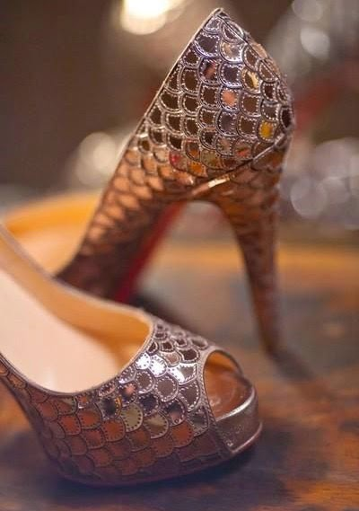 Inspiração Sereia - sapato