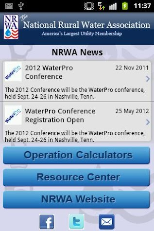 NRWA Water Operations Screenshot