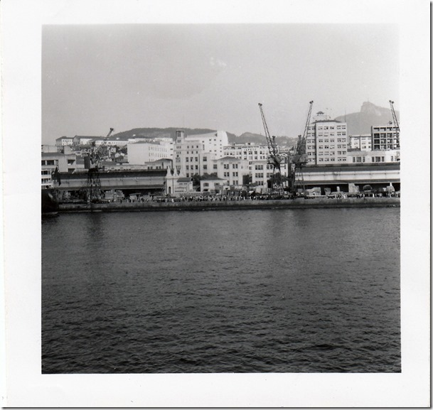 July 9, 1952 Rio de Janeiro, Brazil - View from the S.S. Brazil