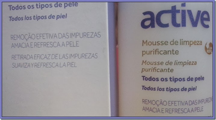 Mousse de limpeza Active