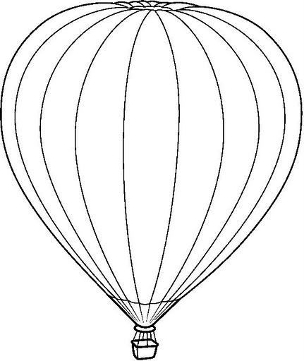 Dibujos De Globos Aerostaticos Para Colorear