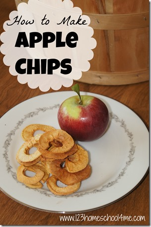 how to make apple chips - they are delicious, easy to make, and healthy too! #recipes #fall #realfood