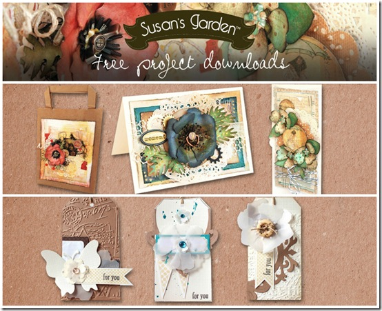 tutorial free - Sizzix Big shot - Susan's garden