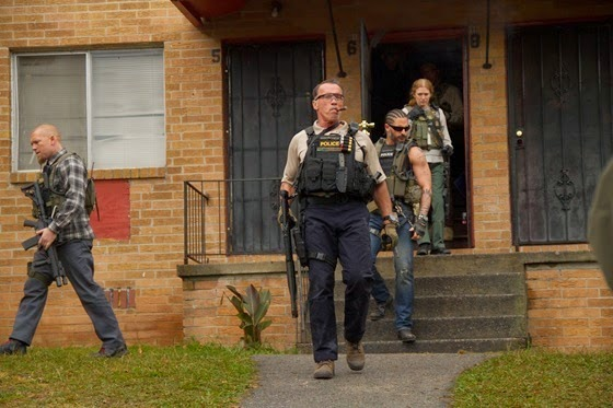 Sam Worthington, Arnie, Joe Manganiello and Mireille Enos in Sabotage