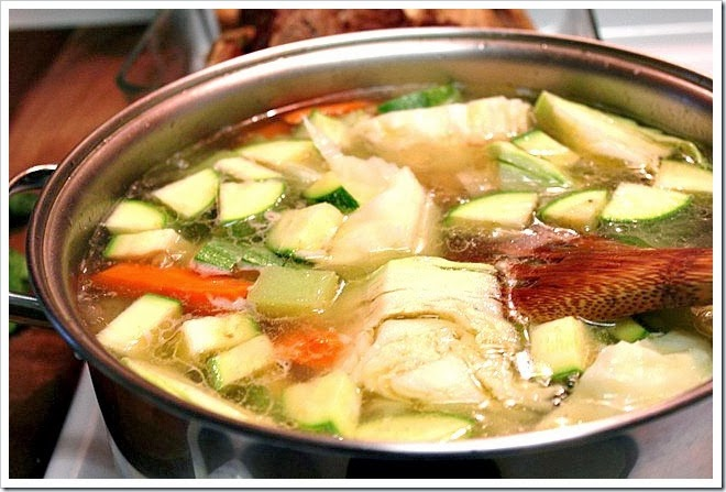 Caldo de res, mexican beef soup with vegetables