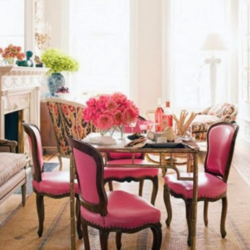 pink dining