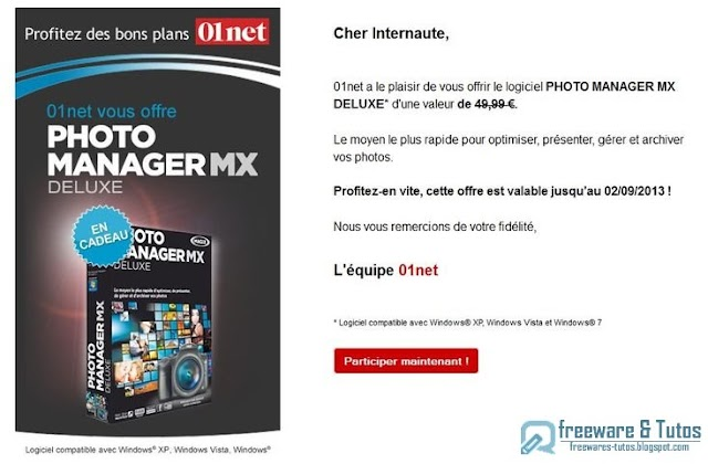 Offre promotionnelle : MAGIX Photo Manager MX Deluxe gratuit !