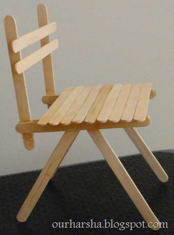 Popsicle sticks Chair (4)