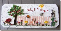 Quilled paper welcome sign