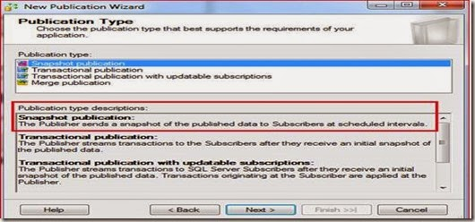 Snapshot Replication (Setting up Publisher) in SQL Server