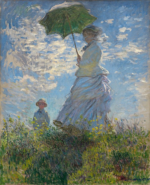 woman with parasol monet