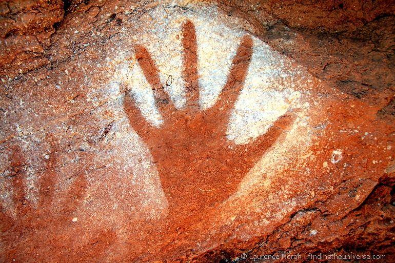 Rock art hand
