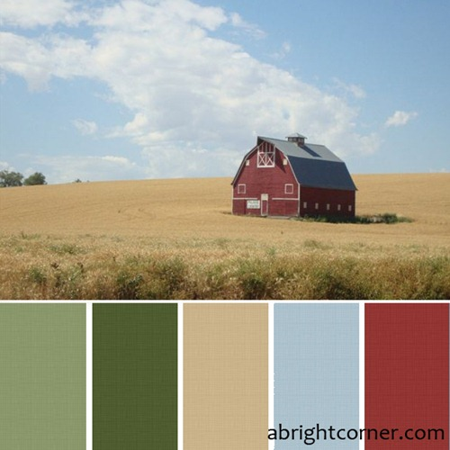 red barn quilt palette