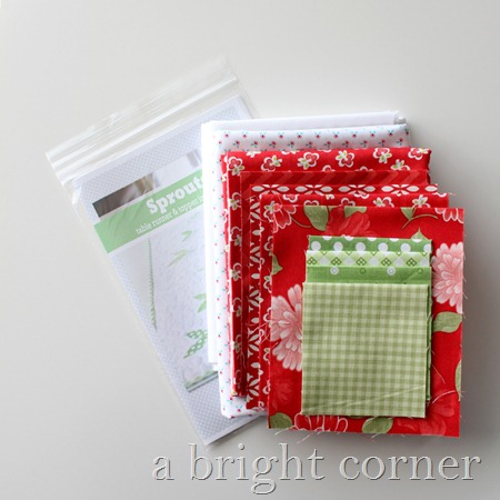 Sprouts Table Runner pattern + kit