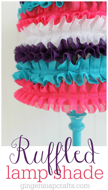 Ruffled Lamp Shade Tutorial at GingerSnapCrafts.com #tutorial #LEDSavings #CollectiveBias #cbias #shop