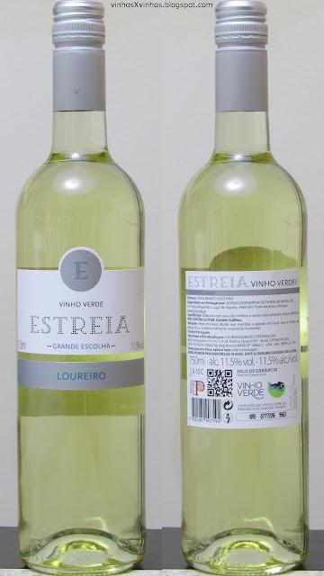 Garrafa do vinho Estreia Loureiro