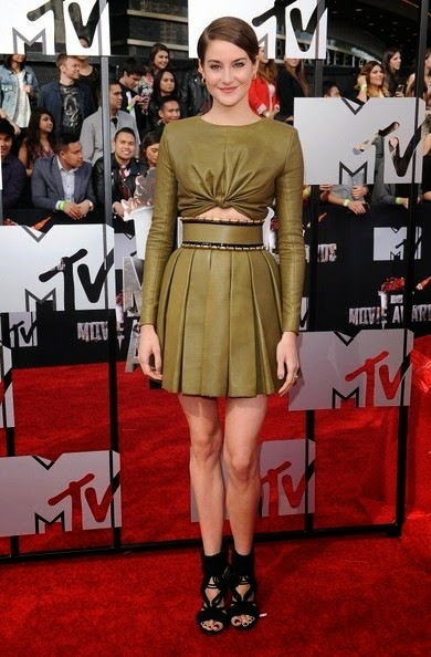Shailene Woodley 2014 MTV Movie Awards Arrivals