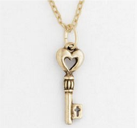 key cross necklace