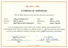 Free printable certificate of authentication templates for Artist certificate of authenticity template