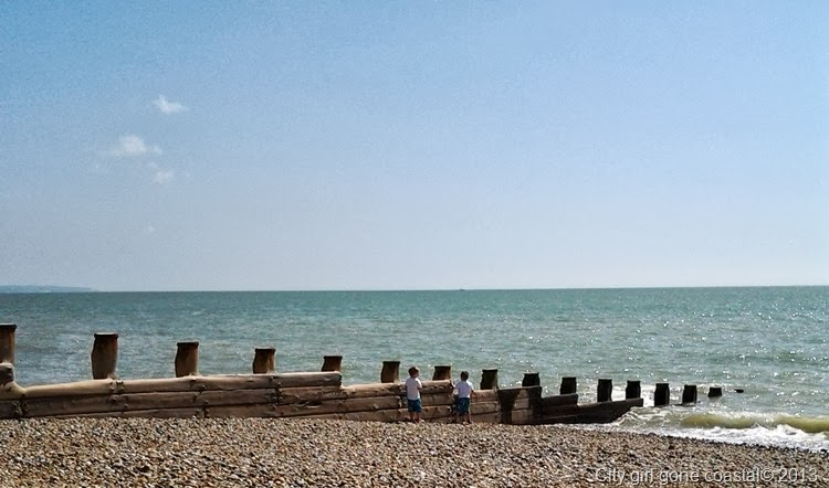 throwing stones, beach, eastbourne, pier