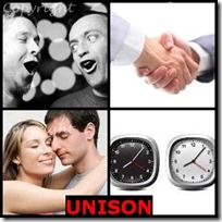UNISON- 4 Pics 1 Word Answers 3 Letters