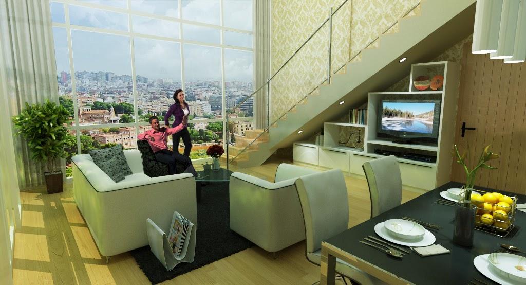 Black paper writer penthouse woodland park resident 3d Room visualizer furniture