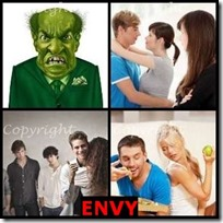 ENVY- 4 Pics 1 Word Answers 3 Letters