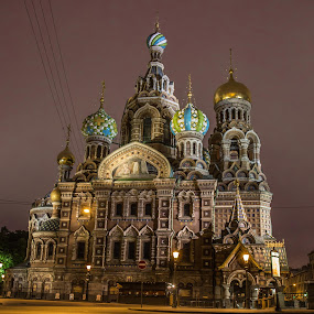 Magical St. Petersburg by Lauren Carroll - Buildings & Architecture Places of Worship ( russia, night photography, colors, st.petersburg, street photography,  )