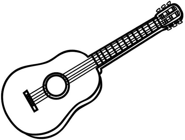 Dibujos De Guitarras Para Colorear