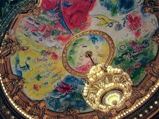 Plafond Chagall à l'Opéra Garnier à Paris