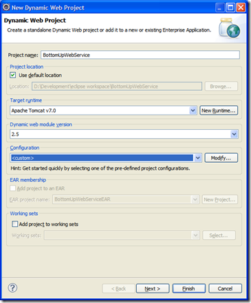 Eclipse Dynamic Project creation
