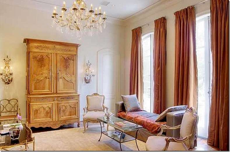 Holden And Dupuy Did Work In Houston Too Here The Living Room With Coral Colored Silk Curtains Contemporary Day Bed Mixed Antiques
