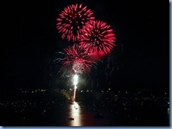8295 Ontario Kenora Best Western Lakeside Inn on Lake of the Woods - Canada Day fireworks from our room
