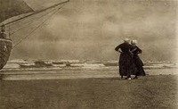 Πικτοριαλισμός - Alfred Stieglitz, Gossip—Katwyk, 1894 (published in Camera Work 1905)