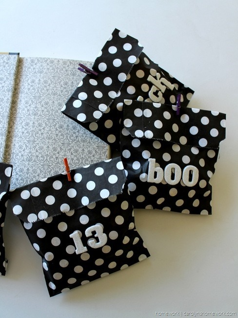Black, White & Glitter Halloween Treat Bags via homework - carolynshomework (2)