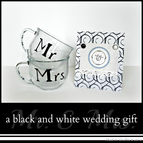 Black and White Mr and Mrs Wedding Gift