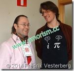 DSC01136.JPG I Vetenskapens hus Fredrik Vesterberg och professor matematikern Svante Linusson KTH med amorism