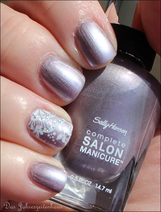 Sally Hansen Pedal to the Metal mit Nail Art 8