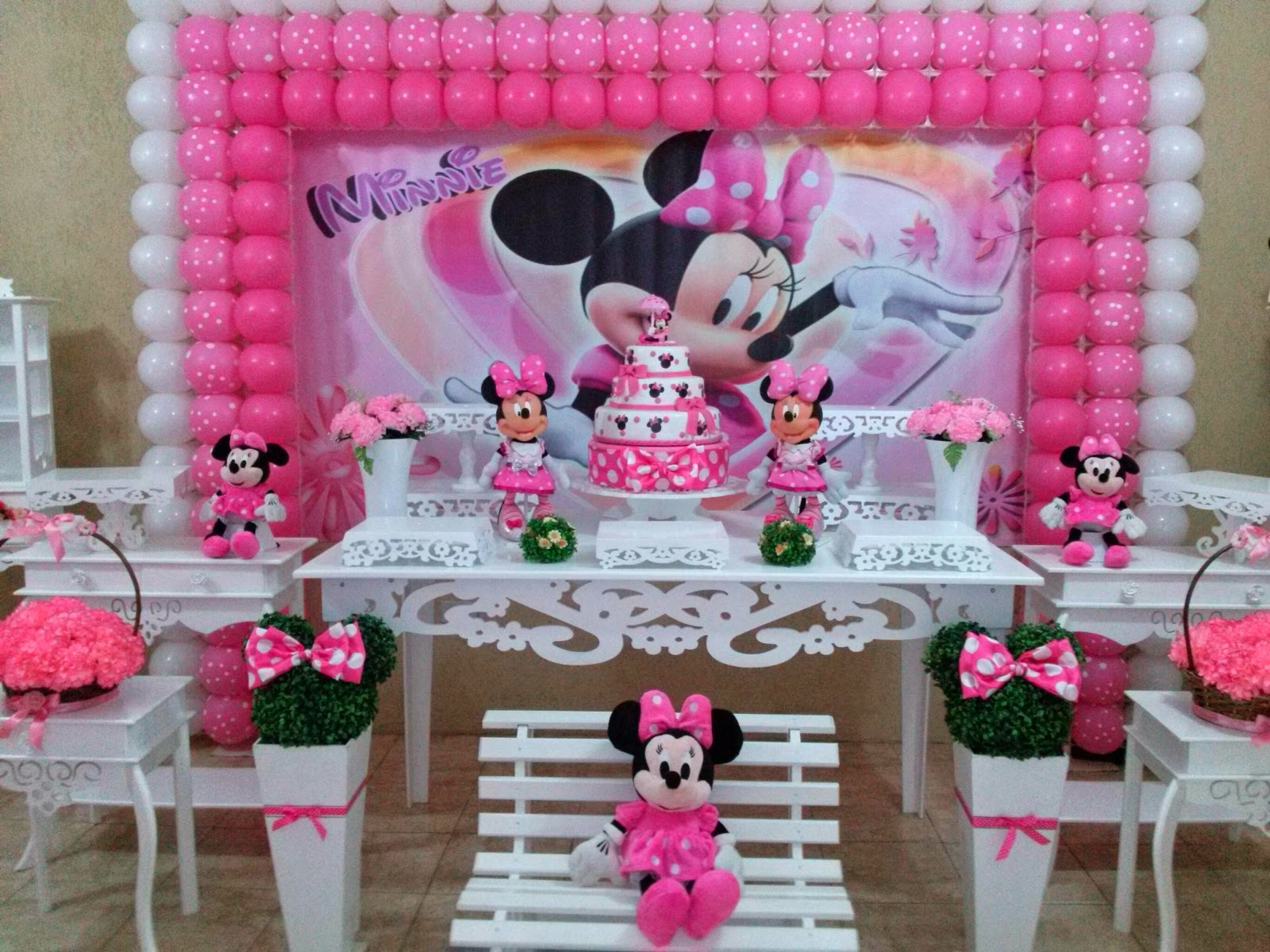 decoracao festa minnie rosa : decoracao festa minnie rosa:Minnie rosa provençal – CIFESTA DECORAÇÕES