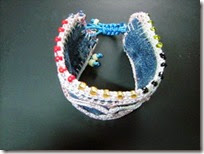 Recycle denim bracelet 04