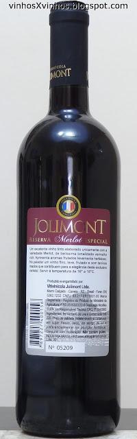 Vinho Merlot Jolimont