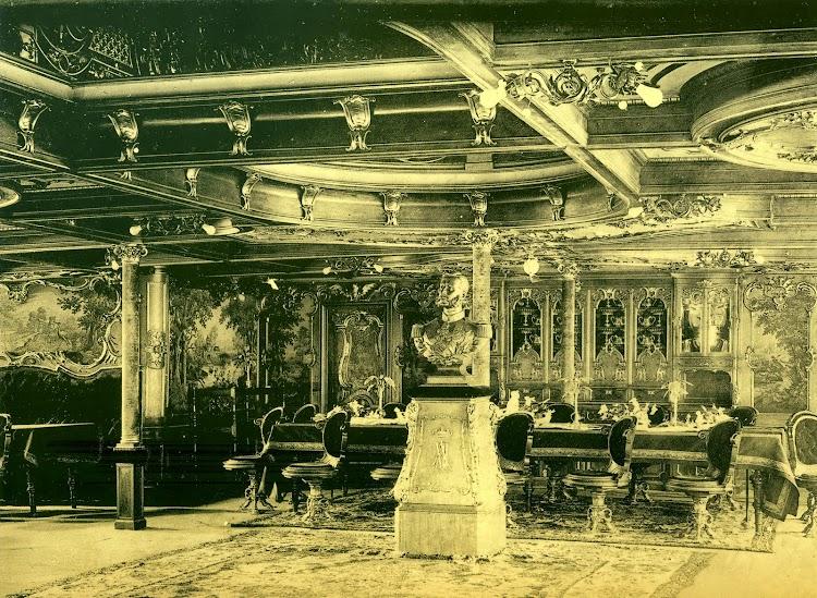 Salón del ALFONSO XII, con el busto del Monarca. Del libro La Imagen del Acero. 125 Años del Astillero de Puerto Real.jpg