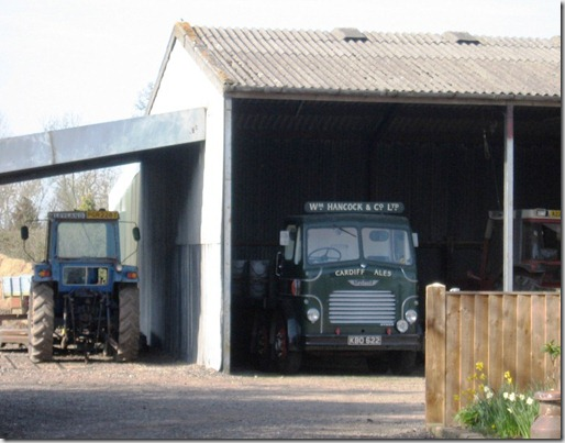 Old Cardiff ales Lorry in a farmyard