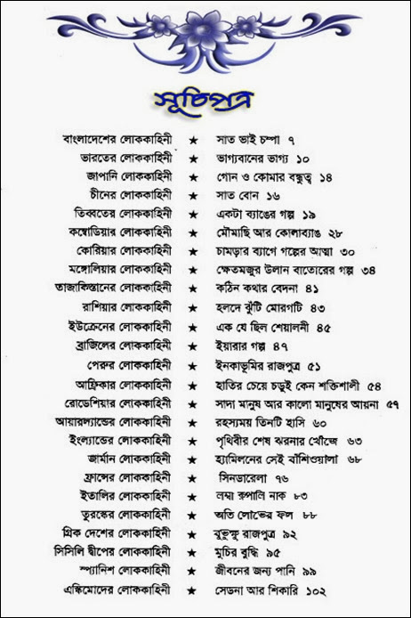 25 Desher Rupkotha Table of contents