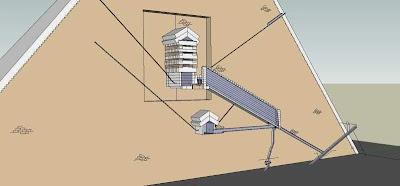 схема пирамиды Хеопса 3D-модель в разрезе