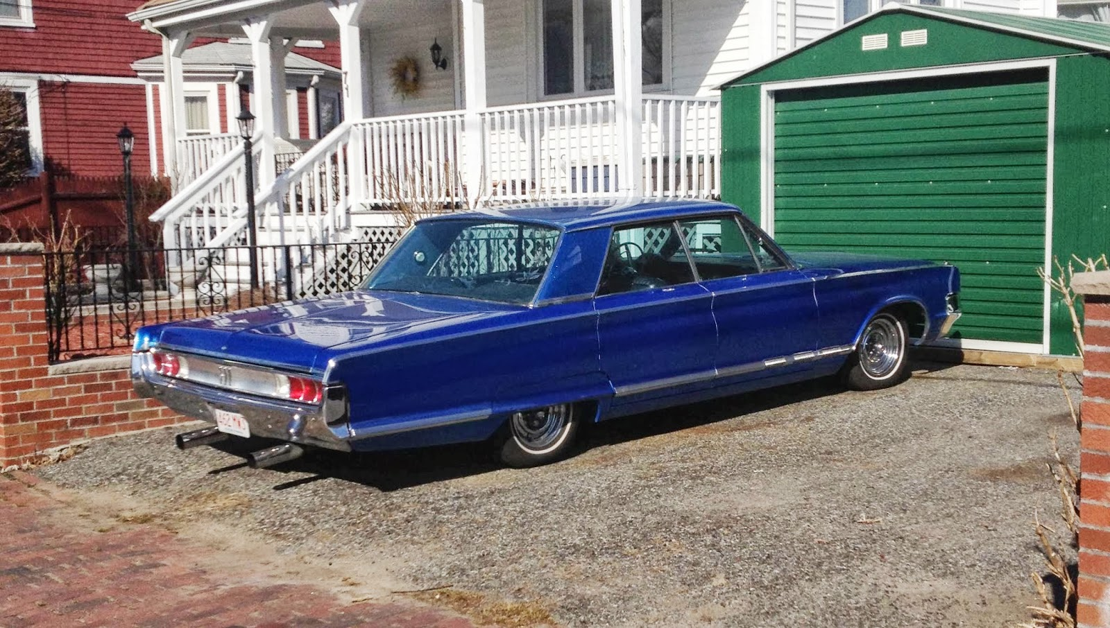 The Land Barge Above Is A 1965 Chrysler 300 Four Door Hardtop You Know I Got Me It S As Whale And About To Set Sail