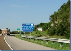 8957 I-24 West, Georgia Welcome sign